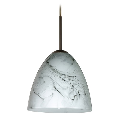 Besa Lighting Besa Lighting Vila Bronze LED Mini-Pendant Light with Bell Shade 1JT-4470MG-LED-BR