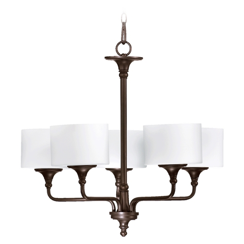 Quorum Lighting Quorum Lighting Rockwood Oiled Bronze Chandelier 6090-5-86