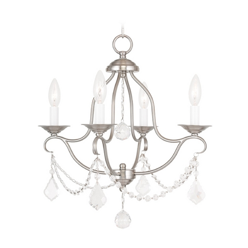 Livex Lighting Livex Lighting Chesterfield Brushed Nickel Crystal Chandelier 6424-91