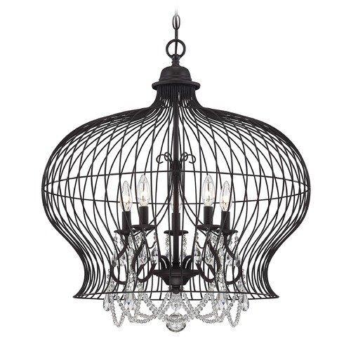 Savoy House Savoy House Forged Black Pendant Light 7-6101-5-17