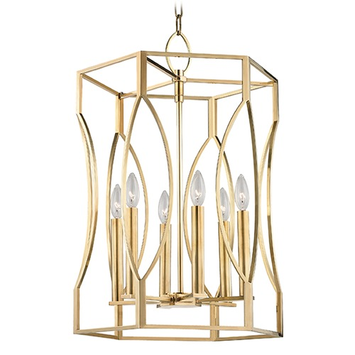Hudson Valley Lighting Roswell 6 Light Pendant Light - Aged Brass 6517-AGB