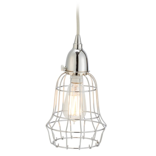 Dimond Lighting Silver Wire Barrel Pendant Light 225040