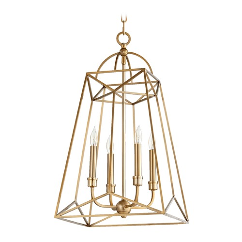Quorum Lighting Quorum Lighting Clarkson Aged Brass Pendant Light 820-4-80