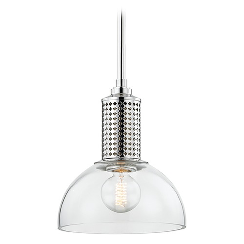 Hudson Valley Lighting Hudson Valley Lighting Halcyon Polished Nickel Mini-Pendant Light with Bowl / Dome Shade 7210-PN
