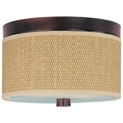 ET2 Lighting Modern Flushmount Light with Brown Tones Shades in Oil Rubbed Bronze Finish E95000-101OI