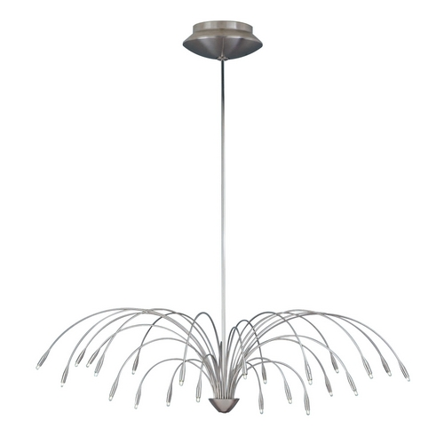 Tech Lighting Modern Chandelier in Satin Nickel Finish 700STAC44S