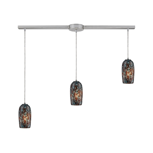 Elk Lighting Modern Multi-Light Pendant Light with Multi-Color Glass and 3-Lights 31147/3L