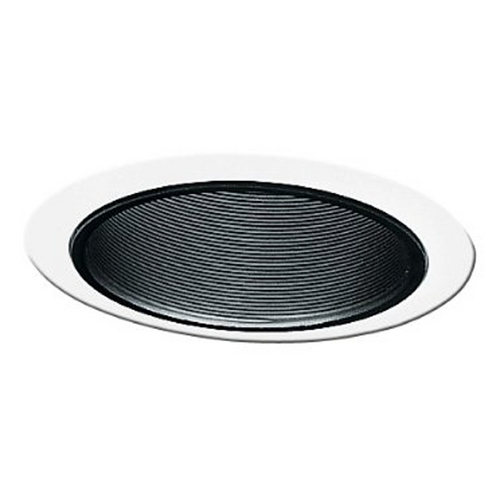 Juno Lighting Group Juno Recessed Black Baffle 5-Inch Trim with White Trim Ring 205 BWH