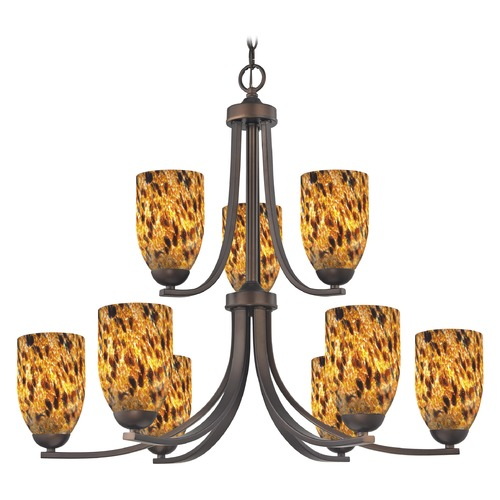 Design Classics Lighting Design Classics Dalton Fuse Neuvelle Bronze Chandelier 586-220 GL1005D