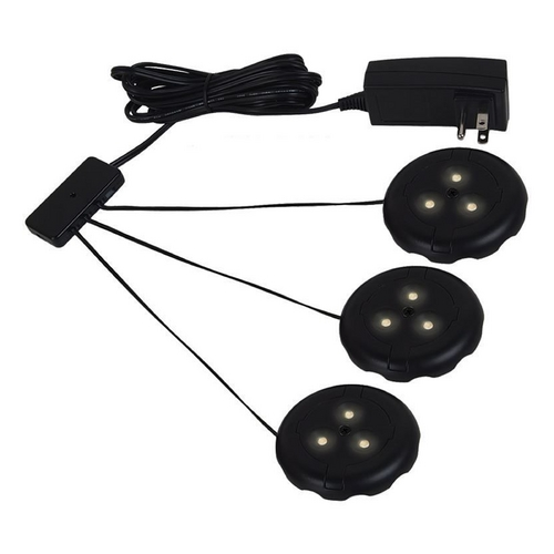 Sea Gull Lighting Sea Gull Lighting Ambiance LED Disk Lighting - Complete Black LED Puck Light 98853SW-12