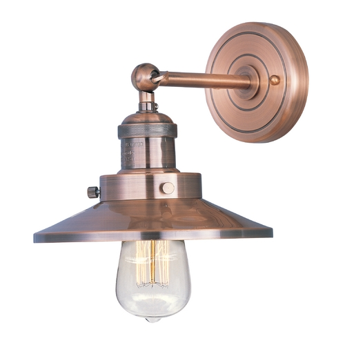 Maxim Lighting Sconce Wall Light in Antique Copper Finish 25060ACP/BUI