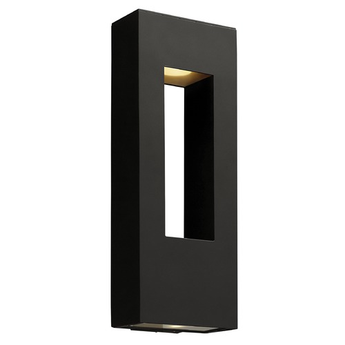 Hinkley Lighting Modern LED Outdoor Wall Light with Etched in Satin Black Finish 1649SK-LED