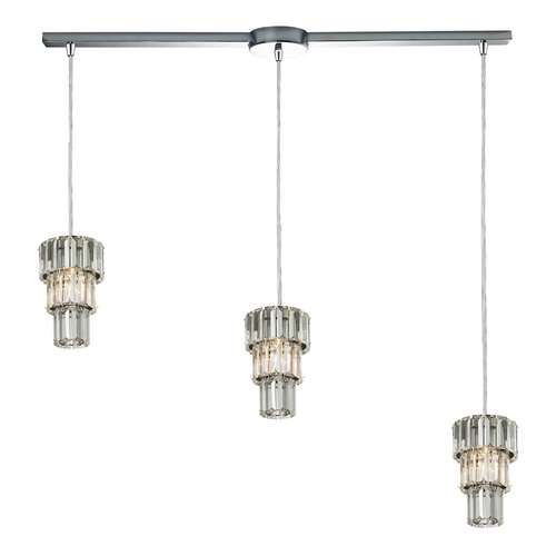 Elk Lighting Crystal Multi-Light Pendant Light 3-Lights 31489/3L