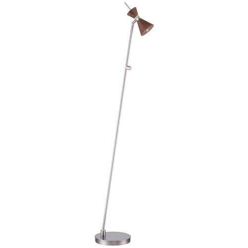 George Kovacs Lighting George Kovacs Conic Brushed Nickel LED Floor Lamp with Conical Shade P1829-651-L