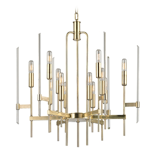 Hudson Valley Lighting Hudson Valley Lighting Bari Aged Brass Chandelier 9912-AGB