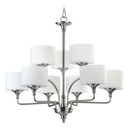 Quorum Lighting Quorum Lighting Rockwood Satin Nickel Chandelier 6090-9-65