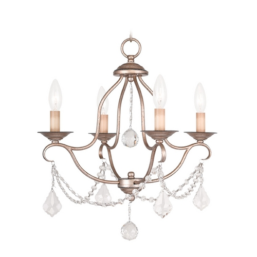 Livex Lighting Livex Lighting Chesterfield Antique Silver Leaf Crystal Chandelier 6424-73