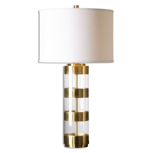 Uttermost Lighting Uttermost Angora Brushed Brass Table Lamp 26669-1