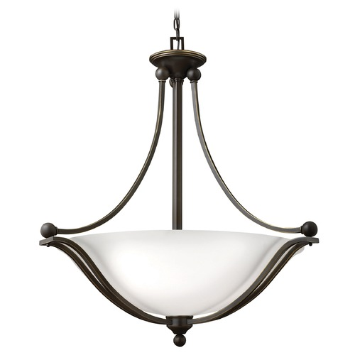 Hinkley Lighting Hinkley Lighting Bolla Olde Bronze Pendant Light with Bowl / Dome Shade 4664OB-OP-GU24
