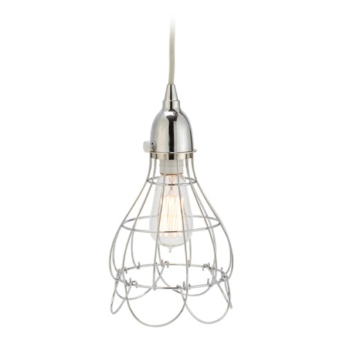 Dimond Lighting Silver Wire Rose Pendant Light 225041