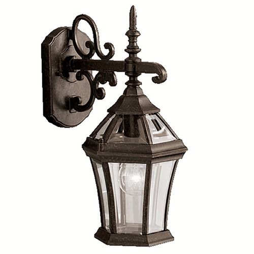 Kichler Lighting Kichler Outdoor Wall Light with Clear Glass in Tannery Bronze Finish 9789TZ