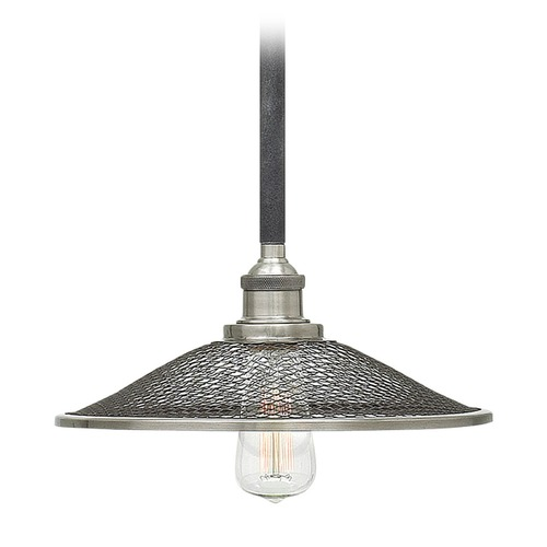Hinkley Lighting Hinkley Lighting Rigby Aged Zinc Pendant Light with Coolie Shade 4367DZ
