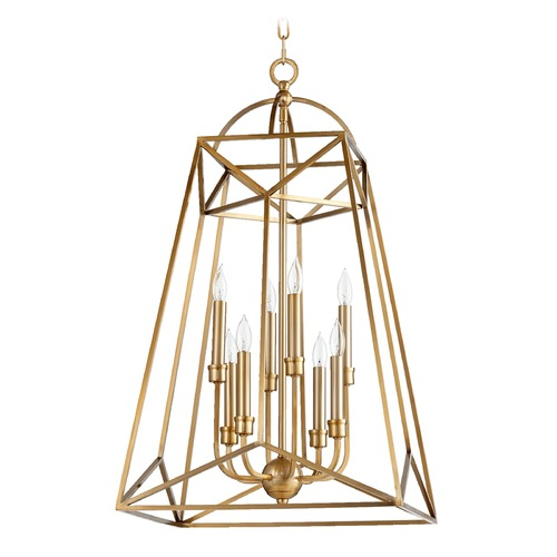 Quorum Lighting Quorum Lighting Clarkson Aged Brass Pendant Light 820-8-80