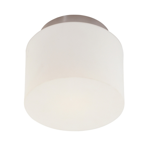 Sonneman Lighting Modern Flushmount Light with White Glass in Satin Nickel Finish 4157.13