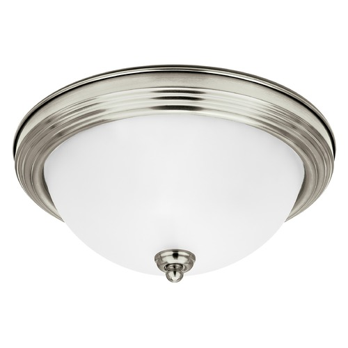 Sea Gull Lighting Sea Gull Lighting Geary Brushed Nickel Flushmount Light 77063-962