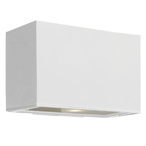Hinkley Lighting Modern Outdoor Wall Light with Etched in Satin White Finish 1645SW
