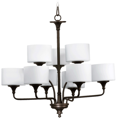 Quorum Lighting Quorum Lighting Rockwood Oiled Bronze Chandelier 6090-9-86