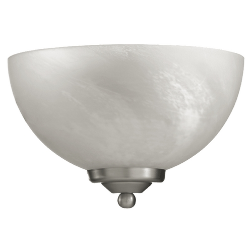 Quorum Lighting Quorum Lighting Hemisphere Satin Nickel Sconce 625-11-65