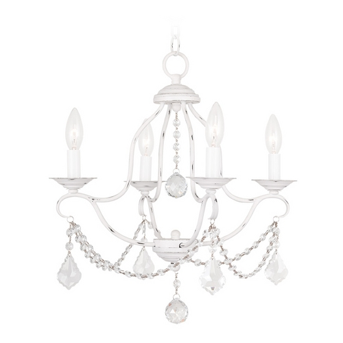 Livex Lighting Livex Lighting Chesterfield Antique White Crystal Chandelier 6424-60
