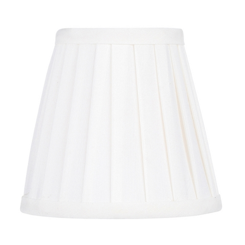 Livex Lighting Pleated White Pleat Empire Lamp Shade with Clip-On Lamp Shade Assembly S317