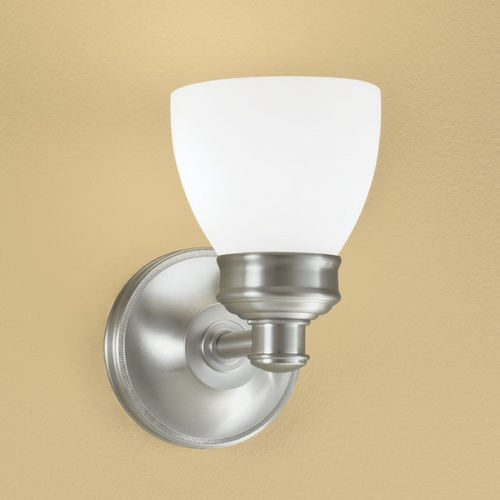 Norwell Lighting Norwell Lighting Spencer Brush Nickel Sconce 8791-BN-OP