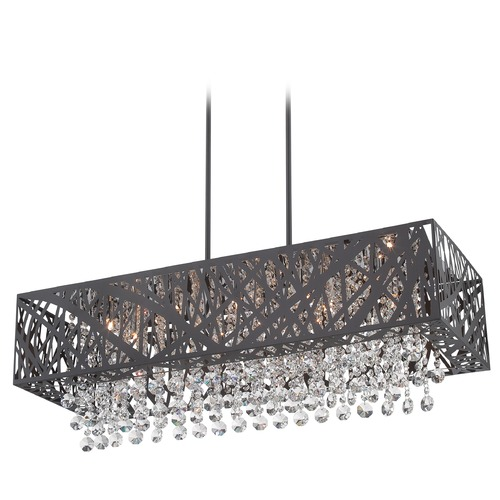 Lite Source Lighting Lite Source Lighting Benedetta Espresso Pendant Light with Rectangle Shade EL-10104ESP