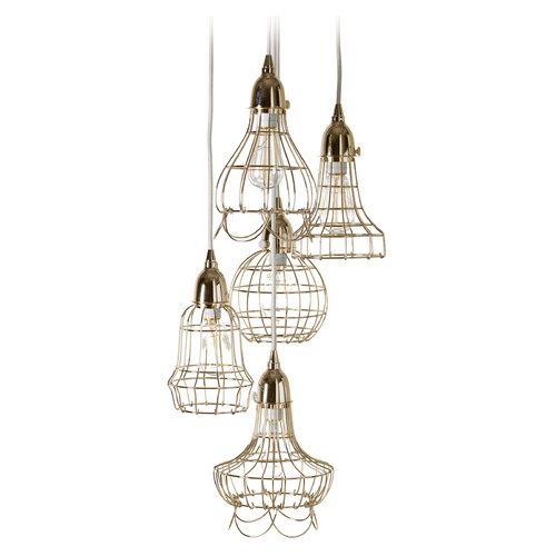 Dimond Lighting Gold Wire Five Pendant Lamp 225052