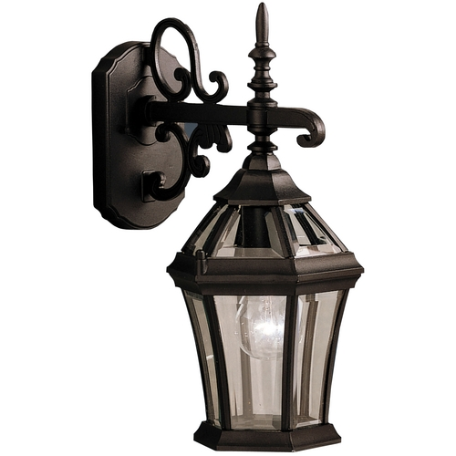 Kichler Lighting Kichler Outdoor Wall Light with Clear Glass in Black Finish 9789BK