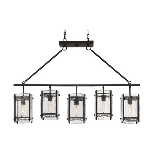Savoy House Savoy House Lighting Glenwood English Bronze Island Light with Square Shade 1-3043-5-13