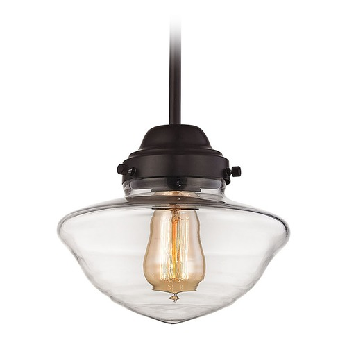 Elk Lighting Elk Lighting Schoolhouse Pendants Oil Rubbed Bronze Mini-Pendant Light 69152-1