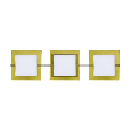 Besa Lighting Besa Lighting Alex Satin Nickel LED Bathroom Light 3WS-7735TO-LED-SN