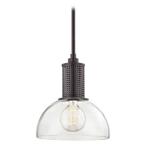 Hudson Valley Lighting Hudson Valley Lighting Halcyon Old Bronze Pendant Light with Bowl / Dome Shade 7214-OB