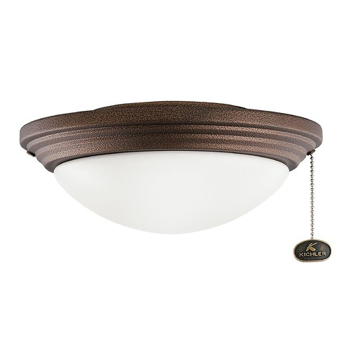 Kichler Lighting Kichler Lighting Accessory Weathered Copper Powder Coat LED Fan Light Kit 380912WCP