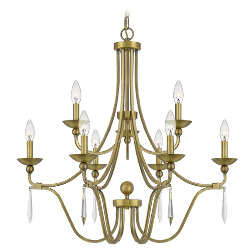Quoizel Lighting Quoizel Lighting Joules Aged Brass Chandelier JOU5032AB
