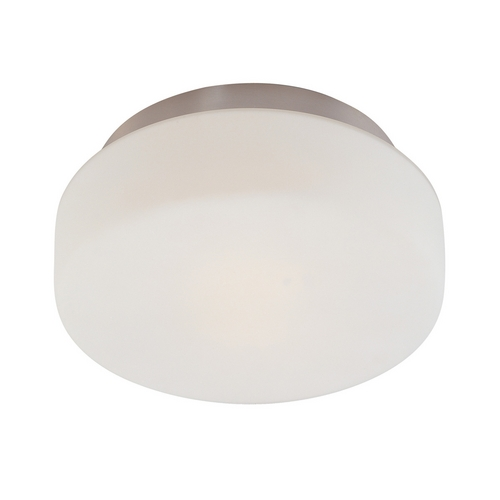 Sonneman Lighting Modern Flushmount Light with White Glass in Satin Nickel Finish 4158.13