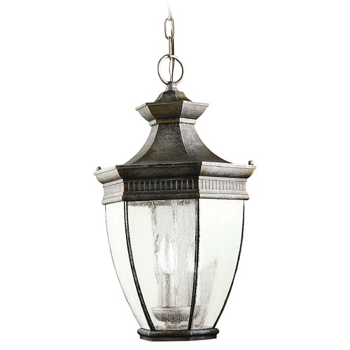 Kichler Lighting Kichler Outdoor Hanging Light with Clear Glass in Bronze Finish 9371TZ