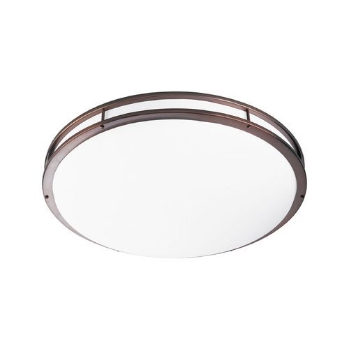 Progress Lighting Modern Flushmount Light with White in Urban Bronze Finish P7252-174EBWB