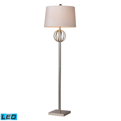 Dimond Lighting Dimond Lighting Silver Leaf LED Floor Lamp with Empire Shade D1495-LED
