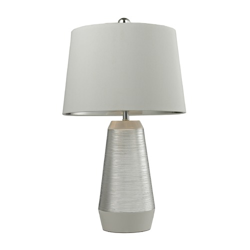 Dimond Lighting Dimond Lighting Silver, White Table Lamp with Empire Shade D2576