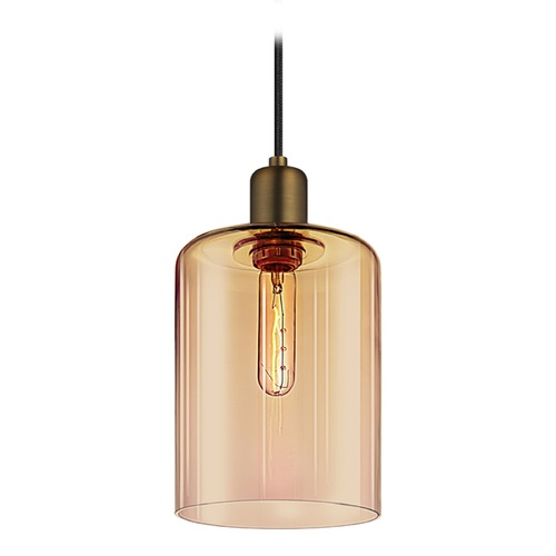 Sonneman Lighting Sonneman Cloche Retro Brass 1 Light Mini-Pendant Light   3190.21BZ